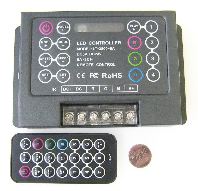 rgb контроллер lt-3800-8a
