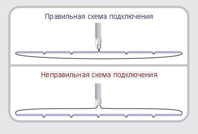 Схема подключения неоновых трубок