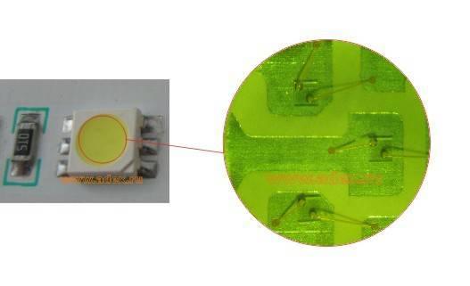 трехкристальный светодиод в корпусе smd 5050