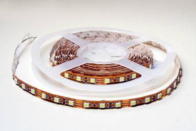 Гибкая плоская интерьерная smd светодиодная лента повышенной яркости, 60 трехкристальных smd светодиодов на метр
