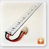 Интерьерная светодиодная жесткая SMD-линейка 30 диодов /385мм 7,2 Вт белого свечения